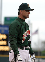 May 3, 2004:  Manager Marty Brown of the Buffalo Bisons, International League (AAA) affiliate of the Cleveland Indians, during a game at Dunn Tire Park in Buffalo, NY.  Photo by:  Mike Janes/Four Seam Images