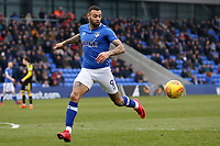 Oldham Athletic's Craig Davies during the Sky Bet League 1 match between Oldham Athletic and Rotherham United at Boundary Park, Oldham, England on 13 January 2018. Photo by Juel Miah / PRiME Media Images.