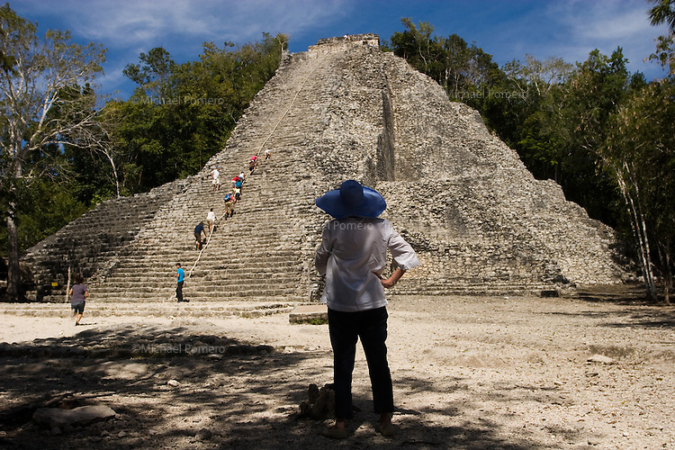 02.2012 Coba (Mexico)<br /> <br /> Pyramide de Coba.<br /> <br /> Coba Pyramid.