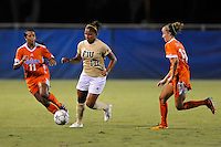 21 August 2011:  FIU's Scarlett Montoya (10) moves the ball up the field while being pursued by Florida's Jazmyne Avant (11) and Annie Speese (13) in the second half as the University of Florida Gators defeated the FIU Golden Panthers, 2-0, at University Park Stadium in Miami, Florida.