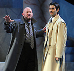 David Wald as Cassius and Bernardo Cubria as Casca during a final dress rehearsal for Caesar at Mill Theatre in Hermann Park Wednesday July 30,2008. (Dave Rossman/For the Chronicle)