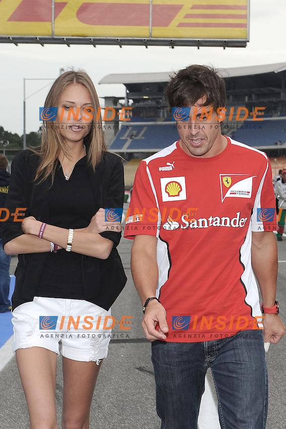 Hockenheim 20/07/2012 GP Formula 1-  Il pilota della Ferrari Fernando Alonso  insieme alla nuova fidanzata Kapustina Dasha. .Foto Insidefoto / Bernard Asset / Panoramic.ITALY ONLY.