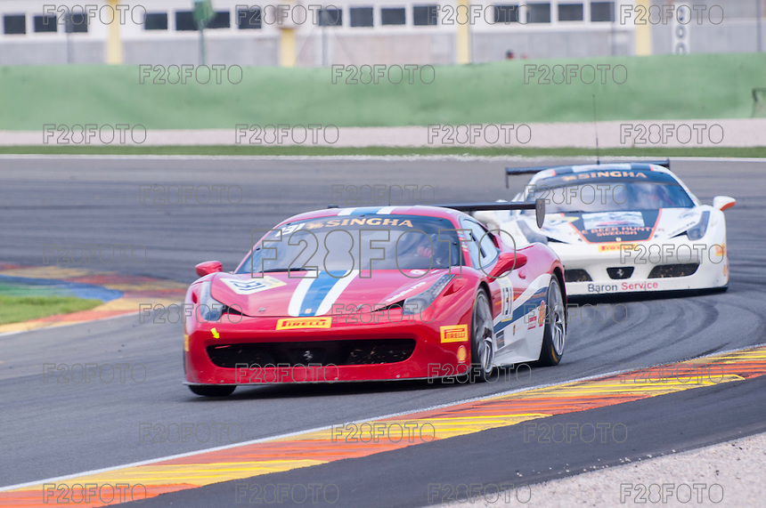 VALENCIA, SPAIN - OCTOBER 2: Kriton Lendoudis during Valencia Ferrari Challenge 2015 at Ricardo Tormo Circuit on October 2, 2015 in Valencia, Spain