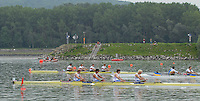 Ottensheim, AUSTRIA.  A  Final,  GBR JM4+, Bow, Toby MUMFORD, Jason PHILLIPS,  Matthews TARRANT, Sean DIXON and Cox, Max GANDER  [ Silver Medallist]  at the 2008 FISA Senior and Junior Rowing Championships,  Linz/Ottensheim. Saturday,  26/07/2008.  [Mandatory Credit: Peter SPURRIER, Intersport Images] Rowing Course: Linz/ Ottensheim, Austria