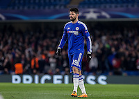 Diego Costa of Chelsea during the UEFA Champions League Round of 16 2nd leg match between Chelsea and PSG at Stamford Bridge, London, England on 9 March 2016. Photo by Andy Rowland.