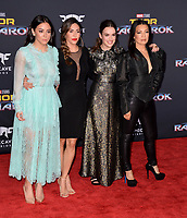 Chloe Bennett, Natalia Cordova-Buckley, Elizabeth Henstridge &amp; Ming-Na-Wen at the premiere for &quot;Thor: Ragnarok&quot; at the El Capitan Theatre, Los Angeles, USA 10 October  2017<br /> Picture: Paul Smith/Featureflash/SilverHub 0208 004 5359 sales@silverhubmedia.com