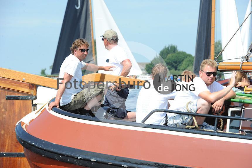 SKUTSJESILEN: LANGWEER: 25-07-2013, SKS skûtsjesilen, Huizum wint, Skûtsje Woudsend (13), schipper Teake Klaas van der Meulen, ©foto Martin de Jong