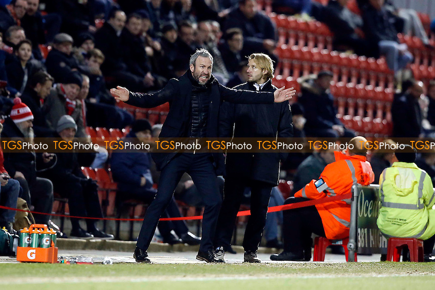Notts County's manager Shaun Derry<br /> Leyton Orient v Notts Co - SkyBet League One football at The Brisbane Road Stadium Leyton London 10/02/15 - MANDATORY CREDIT SIMON O'CONNOR -Self Billing applies where appropiate