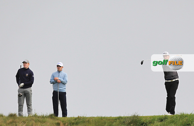 Sam Whitaker (ENG) on the 14th tee during Round 2 of the Flogas Irish Amateur Open Championship at Royal Dublin on Friday 6th May 2016.<br /> Picture:  Thos Caffrey / www.golffile.ie
