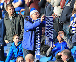 A Cardiff fans shows off his scarf during the Sky Bet Championship League match at The Cardiff City Stadium.  Photo credit should read: David Klein/Sportimage
