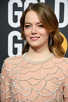 Golden Globe nominee Emma Stone attends the 76th Annual Golden Globe Awards at the Beverly Hilton in Beverly Hills, CA on Sunday, January 6, 2019.<br /> *Editorial Use Only*<br /> CAP/PLF/HFPA<br /> Image supplied by Capital Pictures