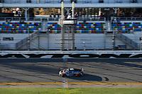 #8 eEuroparts.com ROWE Racing Audi R8, GS: Rodrigo Sales, Gunnar Jeannette, Checker Flag