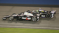 10/19/13 Fontana, CA:  Will Power (12) and Tony Kanaan (11) during the MAVTV 500 held at the Auto Club Speedway