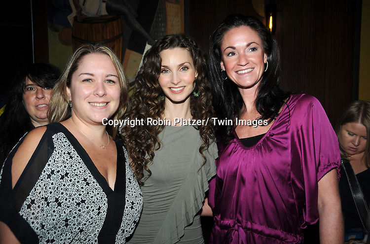 Alicia Minshew and fans attending the Good Night Pine Valley Event co-hosted by All My Children actors Ricky Paull Goldin and Alicia Minshew on September 17, 2011 at Prohibition in New York City
