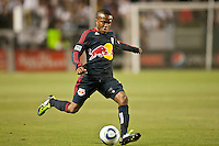 CARSON, CA – May 7, 2011: New York Re Bulls midfielder Dane Richards (19) gets ready to pass the ball during the match between LA Galaxy and New York Red Bull at the Home Depot Center, May 7, 2011 in Carson, California. Final score LA Galaxy 1, New York Red Bull 1.