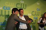 Michael Rady & Thomas Calabro at the CW Upfront 2009 on May 21, 2009 at Madison Square Gardens, New York NY. (Photo by Sue Coflin/Max Photos)