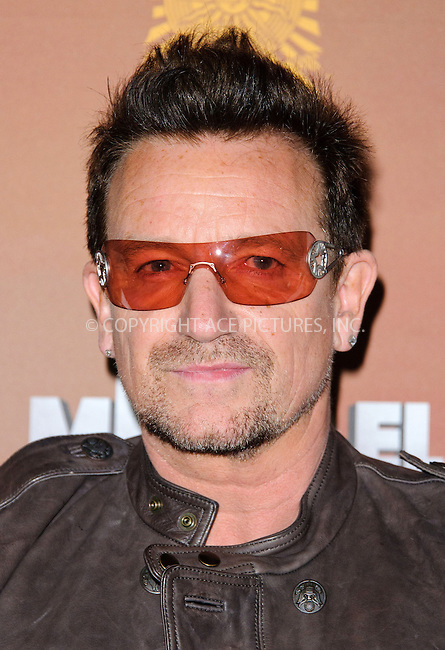 WWW.ACEPIXS.COM....US Sales Only....October 12 2012, London....Bono at the European premiere of 'Michael Jackson: The Immortal World Tour' at the O2 Arena on October 12 2012  in London....By Line: Famous/ACE Pictures......ACE Pictures, Inc...tel: 646 769 0430..Email: info@acepixs.com..www.acepixs.com