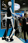 Robot Suit Hal poses for a demonstration at the International Robot Exhibition in Tokyo on November 27, 2009. Some 200 robot companies and institutes exhibit their latest robot technologies at a four-day exhibition (photo Laurent Benchana/Nippon News).