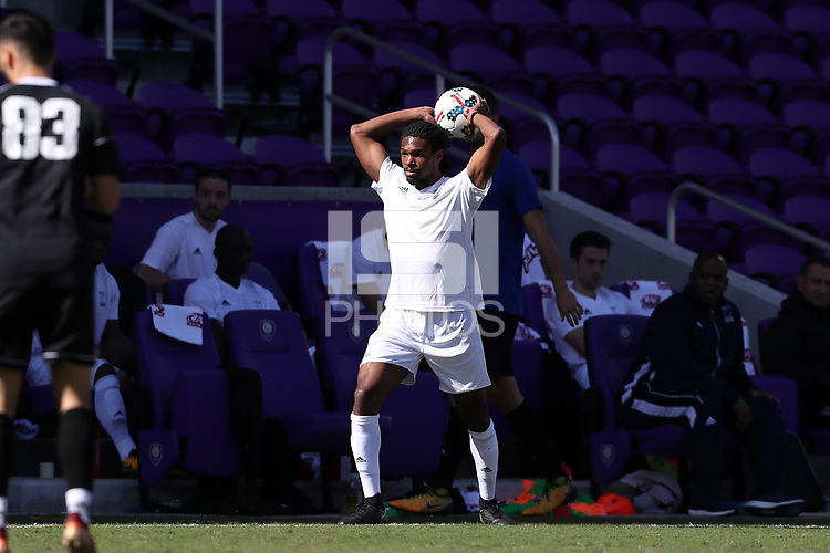 Orlando, Florida - Monday January 15, 2018: Carter Manley. Match Day 2 of the 2018 adidas MLS Player Combine was held Orlando City Stadium.