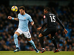 Kyle Walker of Manchester City and Diafra Sakho of West Ham United during the premier league match at the Etihad Stadium, Manchester. Picture date 3rd December 2017. Picture credit should read: Andrew Yates/Sportimage