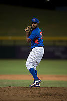 AZL Cubs relief pitcher Andry Rondon (99) prepares to deliver a pitch during an Arizona League game against the AZL Brewers at Sloan Park on June 29, 2018 in Mesa, Arizona. The AZL Cubs 1 defeated the AZL Brewers 7-1. (Zachary Lucy/Four Seam Images)