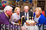 Michael Dowling Ross Road Killarneyblowing out the candles at his 101st birthday with his daughters Bridget Withey and Maria Lynch and son Michael at Our Lady of Lourdes care facility Kilcummin on Friday