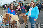 Listowel Horse Fair : Attending the first horse fair of the year in Listowel on Thursday last were Sarah sheehan, Kilflynn, Rose Molyneaux & Kathy Molyneaux, Lixnaw, and Allison O'Connor. Lixnaw admiring a Shetland pony.