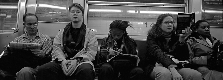 Subway series shot in New York between the years 1998 and 2001