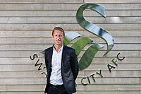 Pictured: Graham Potter poses for a picture. Monday 11 June 2018<br /> Re: Graham Potter is announced as the new manager for Swansea City AFC at the Fairwood Training Ground, south Wales, UK.