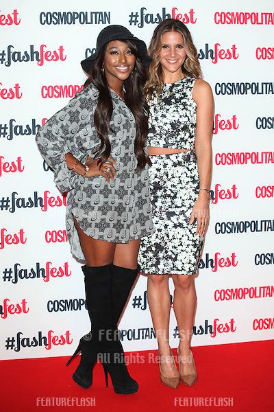 Alexandra Burke and Amanda Byram arriving for the Cosmopolitan Fashfest, at Battersea Evolution, London. 18/09/2014 Picture by: Alexandra Glen / Featureflash