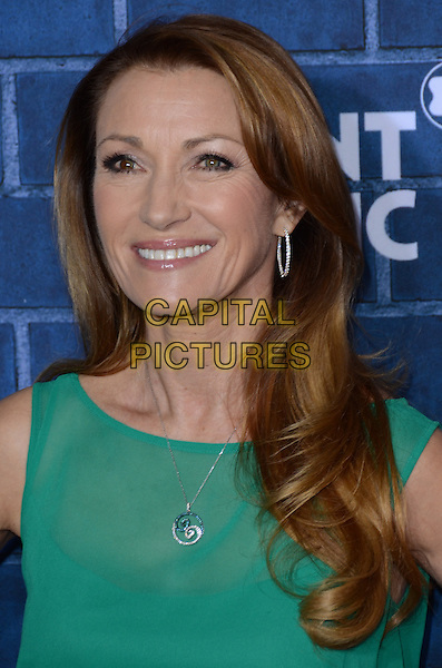 Jane Seymour.Montblanc Hosts Pre-Oscar Charity Brunch Benefiting UNICEF held at Hotel Bel-Air, Los Angeles, California, USA..February 23rd, 2013.headshot portrait silver necklace hoop earrings green sleeveless .CAP/ADM/TW.©Tonya Wise/AdMedia/Capital Pictures