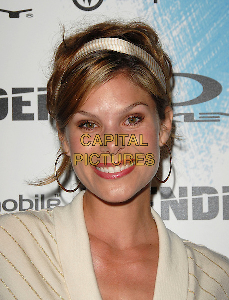 JAMIE LITTLE.The Oakley, Blender Magazine & AMP'D Mobile X Games Kick Off Party held at Element in Hollywood, California, USA..August 2nd, 2006.Ref: DVS.headshot portrait white headband hoop earrings.www.capitalpictures.com.sales@capitalpictures.com.©Debbie VanStory/Capital Pictures