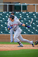 Salt River Rafters shortstop Gavin Cecchini (2) at bat during an Arizona Fall League game against the Surprise Saguaros on October 20, 2015 at Salt River Fields at Talking Stick in Scottsdale, Arizona.  Surprise defeated Salt River 3-1.  (Mike Janes/Four Seam Images)