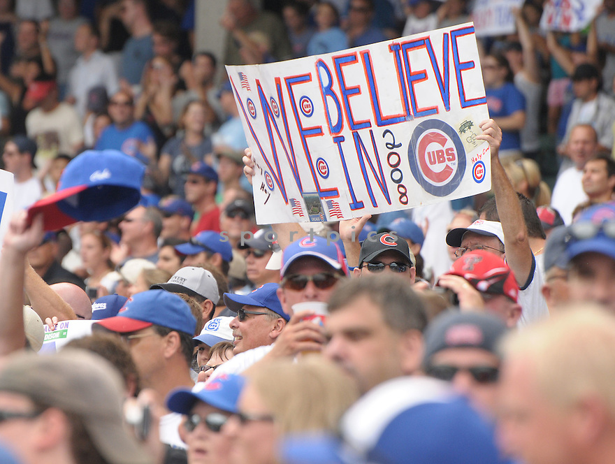 Fans celebrate a Chicago Cubs win after beating the Washington Nationals