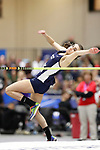 NAPERVILLE, IL - MARCH 11: Olivia Jendrzejewski of Lebanon Valley competes in the women's high jump at the  Division III Men's and Women's Indoor Track and Field Championship held at the Res/Rec Center on the North Central College campus on March 11, 2017 in Naperville, Illinois. (Photo by Steve Woltmann/NCAA Photos via Getty Images)