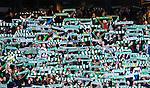 Stockholm 2014-05-04 Fotboll Superettan Hammarby IF - IFK V&auml;rnamo :  <br /> Hammarbys supportrar med halsdukar halsdukshav innan matchen<br /> (Foto: Kenta J&ouml;nsson) Nyckelord:  Superettan Tele2 Arena Hammarby HIF Bajen V&auml;rnamo supporter fans publik supporters