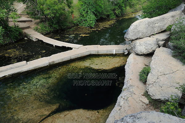 Jacob's Well, Wimberley, Hays County, Central Texas, USA