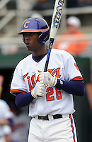 Clemson outfielder Chris Epps in a game between the Clemson Tigers and Mercer Bears on Feb. 24, 2008, at Doug Kingsmore Stadium in Clemson, S.C. Photo by: Tom Priddy/Four Seam Images