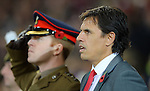 Chris Coleman Manager of Wales during the FIFA World Cup Qualifying match at the Cardiff City Stadium, Cardiff. Picture date: November 12th, 2016. Pic Robin Parker/Sportimage