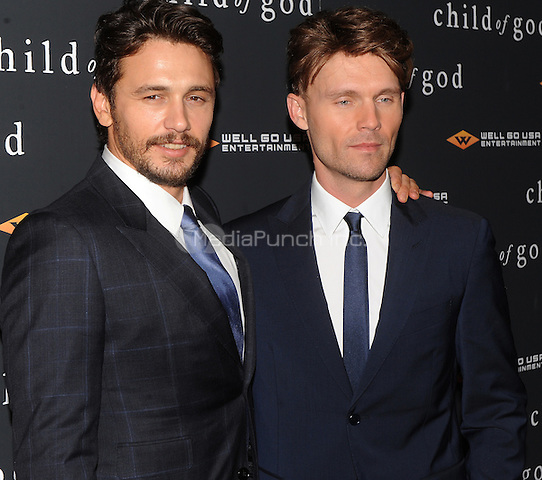 New York,NY-JULY 30: James Franco and Scott Haze attends the 'Child Of God' premiere at Tribeca Grand Hotel in New York on July 30, 2014 . Credit: John Palmer/MediaPunch