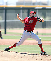 Robby Rowland #45 of the Arizona Diamondbacks plays in an extended spring training game against the Oakland Athletics at the Diamondbacks minor league complex on May 30, 2011  in Scottsdale, Arizona. .Photo by:  Bill Mitchell/Four Seam Images.