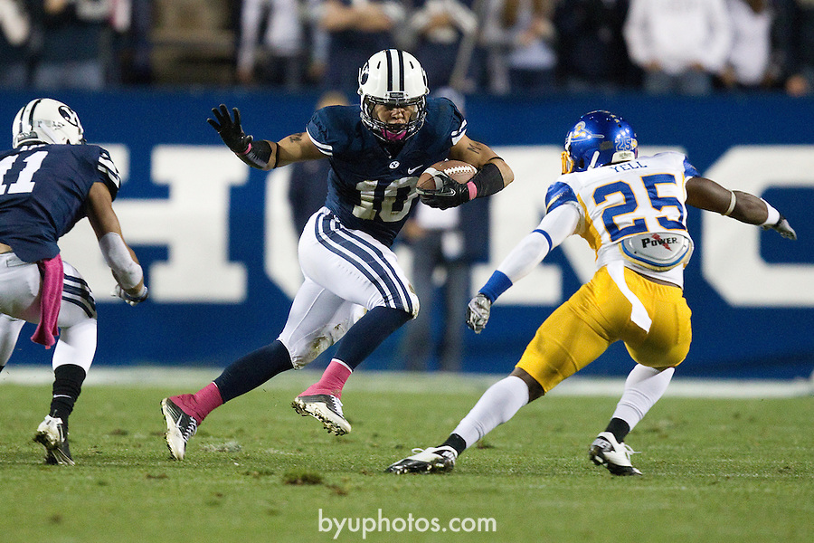 BYU defeats San Jose State 29-16 in Lavell Edwards Stadium on Saturday October 8, 2011..._SW10579.jpg..11FTB vs San Jose State ..BYU - 29.SJS - 16..October 8, 2011..Photo by Jaren Wilkey/BYU..© BYU PHOTO 2011.All Rights Reserved.photo@byu.edu  (801)422-7322