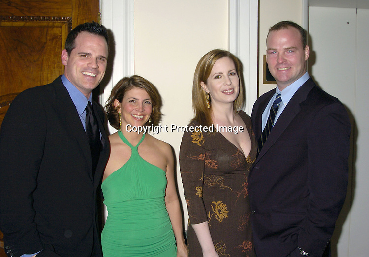 Michael Park and wife Laurie and Martha Byrne and husband Michael McMahon ..at The Black Tie and Blackjack Casino NIght in support of The Leukemia & Lymphoma Society at The Downtown Association on February 12, 2005. ..Photo by Robin Platzer, Twin Images