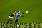 Shane Enright Kerry in action against Bernard Brogan Dublin in the All Ireland Senior Football Final in Croke Park on the 20th September 2015.