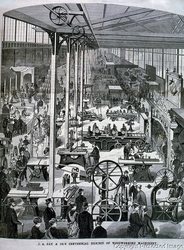 Utopia:  Machinery Hall--Centennial Exposition.  SCIENCE AMERICA, Nov. 25, 1876.  Photo '74.