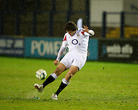 Photo: Richard Lane/Richard Lane Photography. England U20 v South Africa U20. Semi Final. 18/06/2008. Engand's Alex Goode kicks.