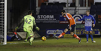 Ollie Palmer of Lutn Town score his sides third goal during the Sky Bet League 2 match between Luton Town and Hartlepool United at Kenilworth Road, Luton, England on 14 March 2017. Photo by Liam Smith.