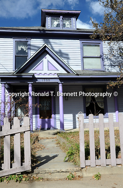 Purple house Idaho Springs Colorado, purple house with fence,  Colorado, US State of Colorado, Rocky Mountain region,   Rocky Mountain region, Coloradans, US State of Colorado, State of Colorado, Colorado, Rocky Mountain region, Southwestern Region of USA, Denver, Coloradan,  Colorado, CO, CR, Colarado, Colo, Col, CAL, CLD, Photography history, Stock Photography, Fine Art Photography, Fine Art Photography by Ron Bennett, Fine Art, Fine Art photography, Art Photography, Copyright RonBennettPhotography.com ©
