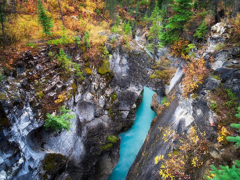 Tokumm Creek, Marble Canyon. Kooteny National Park, Canada