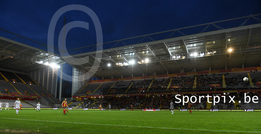 20191102 - LENS , FRANCE : illustration picture shows the ungoing game in the Stade Bollaert stadium during the female soccer match between Arras Feminin and Lille OSC feminin, on the 8th matchday in the French Women's Ligue 2 – D2 at the Stade Bollaert Delelis stadium , Lens . Saturday 2 November 2019 PHOTO DAVID CATRY | SPORTPIX.BE
